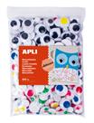 APLI Velká sada - pohyblivé oči, mix barev - 600 ks