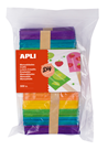 APLI Velká sada - barevná dřívka, 114x10 mm - 500 ks