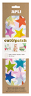 APLI Papír na decoupage - Hvězdy barevné, 3 listy
