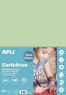 APLI sada barevných papírů A4, smaragdově zelený - 50 ks