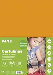 APLI sada barevných papírů, A4, 170 g, oranžový - 50 ks