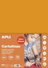 APLI sada barevných papírů, A4, 170 g, fluo-oranžový - 50 ks