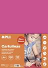 APLI sada barevných papírů, A4, 170 g, fluo-růžový - 50 ks