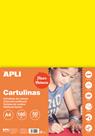 APLI sada barevných papírů, A4, 170 g, fluo-žlutý - 50 ks
