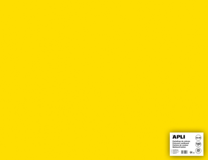 APLI sada barevných papírů, A2+, 170 g, žlutý - 25 ks