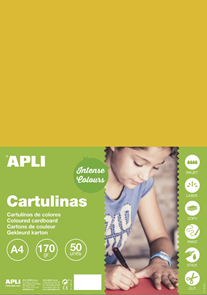 APLI sada barevných papírů, A4, 170 g, vanilkový - 50 ks