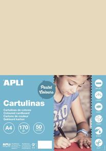 APLI sada barevných papírů, A4, 170 g, lískový ořech - 50 ks