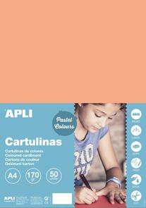 APLI sada barevných papírů, A4, 170 g, losos - 50 ks