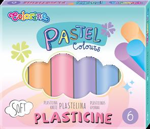 Modelovací hmota Colorino - pastelové odstíny, 6 barev