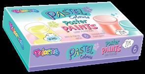 Temperové barvy Colorino - pastelové odstíny, 6 x 20 ml