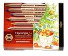 Koh-i-noor Pastelky TRIOCOLOR 3154 JUMBO - přírodní - 24 barev