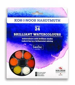 Koh-i-noor brilantní vodové barvy (anilinky) 24 barev, 22,5 mm