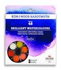 Koh-i-noor brilantní vodové barvy (anilinky) 48 barev, 22,5 mm