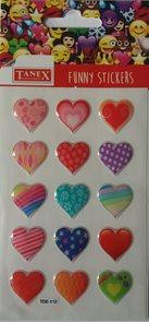 Plastické samolepky - Srdce ( 15 ks )