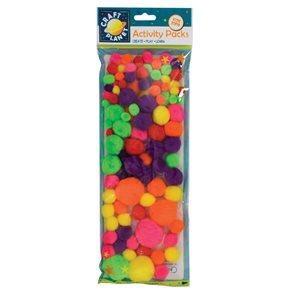 Docrafts Pom-pom kuličky 100 ks - neonové barvy