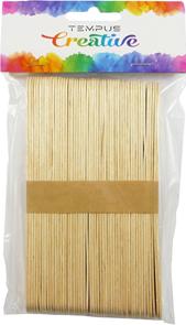 Dřevěné špachtle přírodní - 15 x 1,7 cm, 50 ks