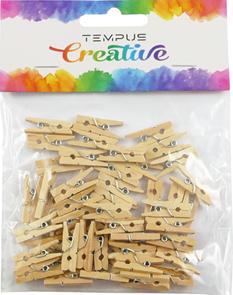 Dřevěné kolíčky, přírodní 2,5 x 0,3 cm - 50 ks