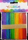 Dřevěné špachtle barevné - 115 mm x 10 mm