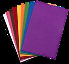 Filc A4 samolepící, MIX barev - 10 ks