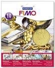 FIMO kovové plátky zlaté, 10 ks
