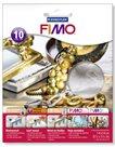 FIMO kovové plátky stříbrné, 10 ks