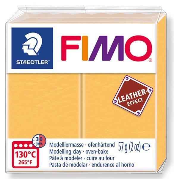 FIMO LEATHER efekt - šafránová žlutá
