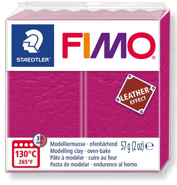 FIMO LEATHER efekt - malinová
