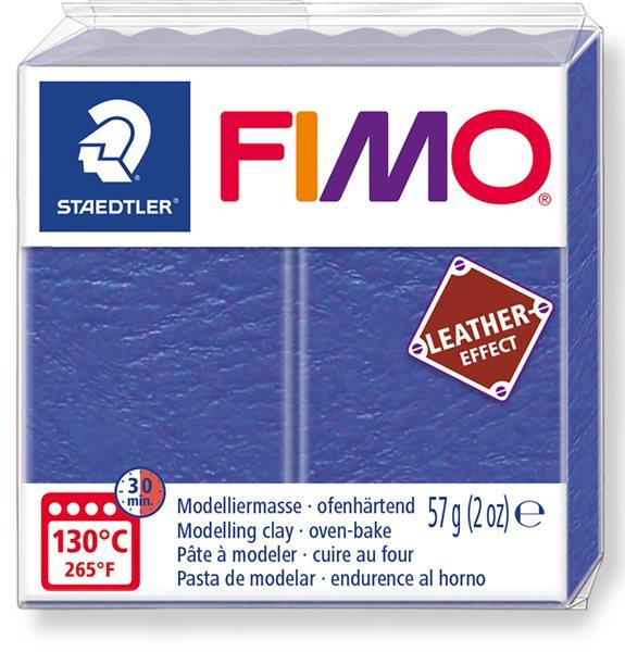 FIMO LEATHER efekt - indigo modrá