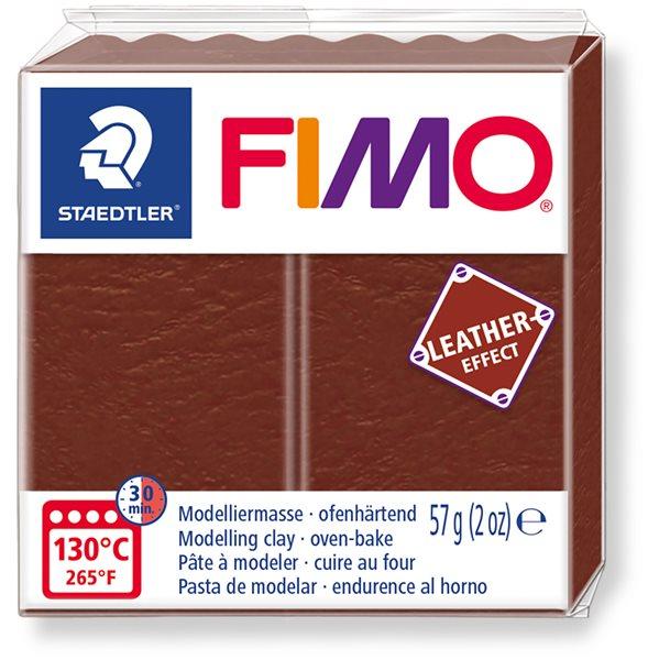 FIMO LEATHER efekt - oříšková