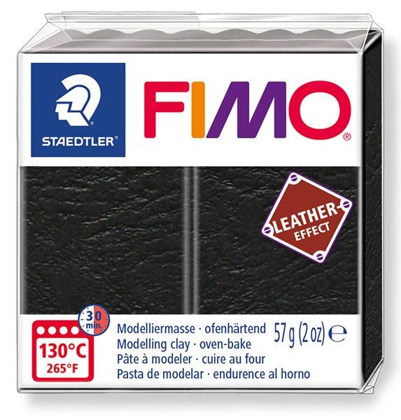 FIMO LEATHER efekt - černá