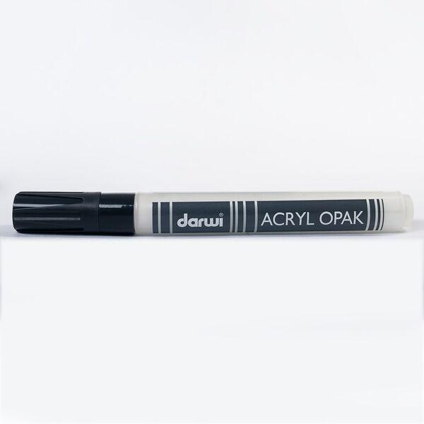DARWI Akrylová fixa - silná - 6ml/3mm - bílá krycí, Sleva 20%