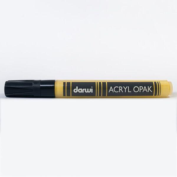 DARWI Akrylová fixa - silná - 6ml/3mm - tmavě žlutá, Sleva 20%
