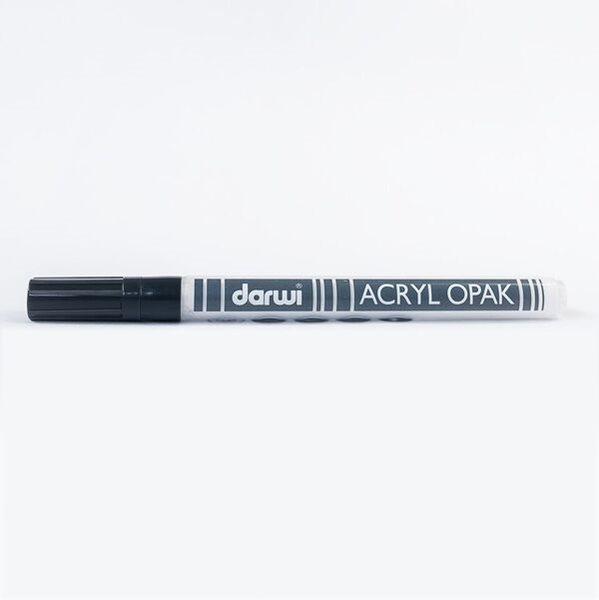 DARWI Akrylová fixa - tenká - 3ml/1mm - bílá krycí, Sleva 20%