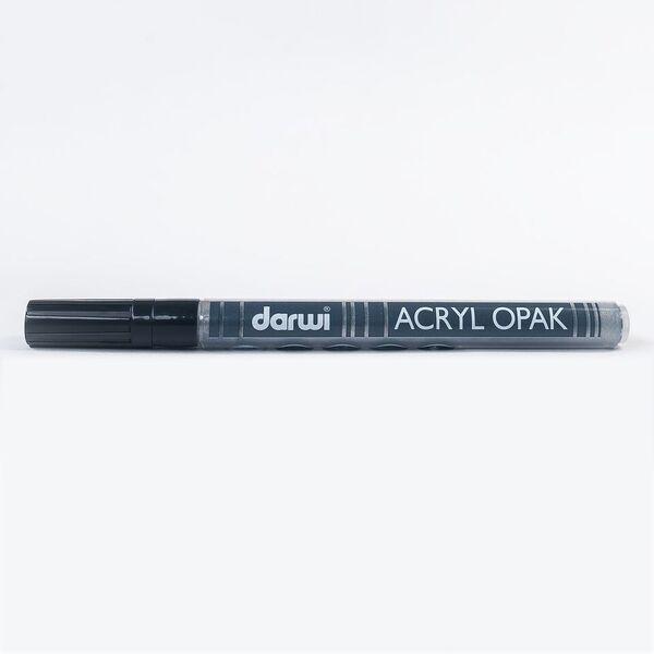 DARWI Akrylová fixa - tenká - 3ml/1mm - stříbrná, Sleva 20%