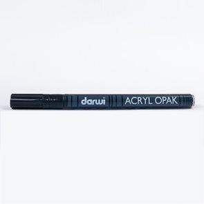 DARWI Akrylová fixa - tenká - 3ml/1mm - černá
