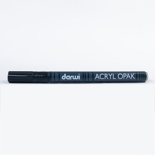 DARWI Akrylová fixa - tenká - 3ml/1mm - černá, Sleva 20%