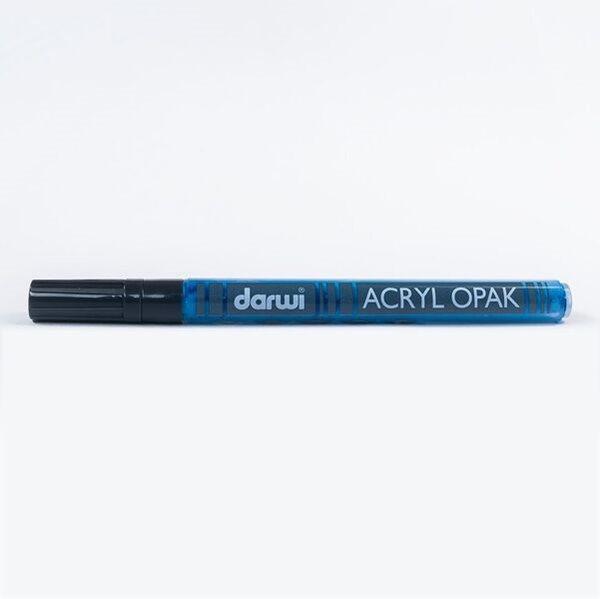 DARWI Akrylová fixa - tenká - 3ml/1mm - tmavě modrá, Sleva 20%