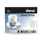 DARWI ARMERINA fixy na porcelán bez vypalování - sada 12 x 6 ml/2 mm
