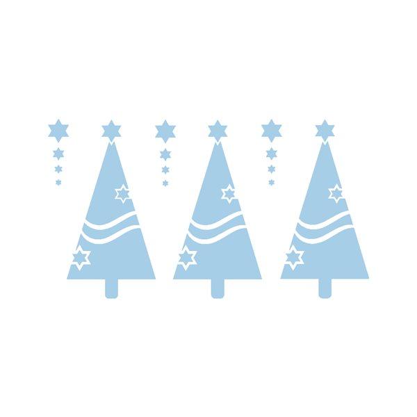 Měkká šablona - vánoční stromky A4, 1ks