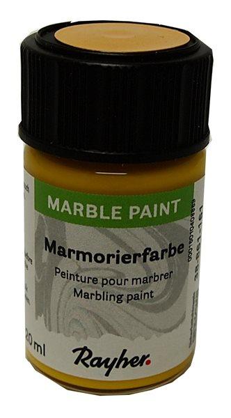 Mramorovací barva Rayher Marble Paint 20 ml - žlutá