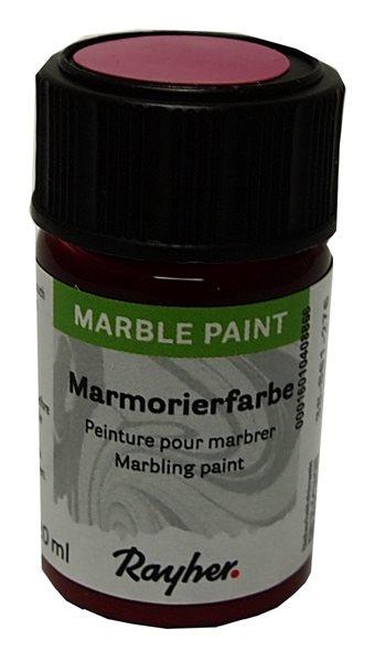 Mramorovací barva Rayher Marble Paint 20 ml - fuchsiová růžová