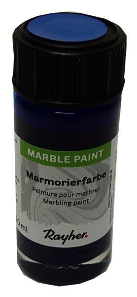 Mramorovací barva Rayher Marble Paint 20 ml - královská modrá