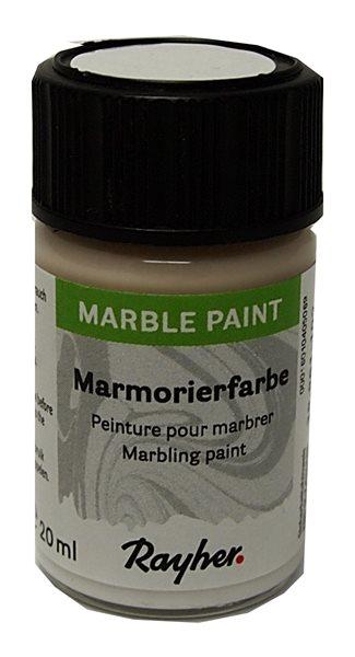 Mramorovací barva Rayher Marble Paint 20 ml - bílá
