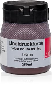 Barva na linoryt AMI 250ml - hnědá