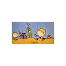Hedvábný šátek s předkresleným motivem 60 x 40 cm - chlapec s loutkami