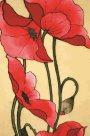 Hedvábný šátek s předkresleným motivem 140 x 45 cm - vlčí máky