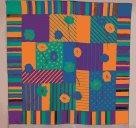 Hedvábný šátek s předkresleným motivem 90 x 90 cm - barevné květy
