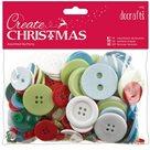 Knoflíky mix, Vánoční barvy (250g)