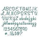 Kovové vyřezávací  šablony Thinlits - Abeceda psací (69ks)