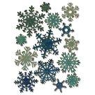 Vyřezávací kovové šablony Thinlits -  Papírové sněhové vločky mini ( 14ks )